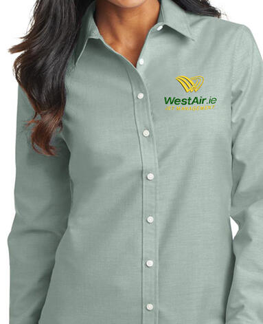 Corporate buttondown with logo